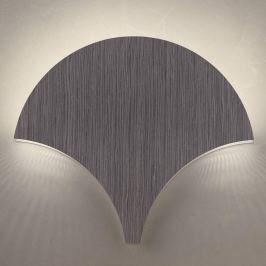 Außergewöhnliche LED-Wandleuchte Palm, abachi grau