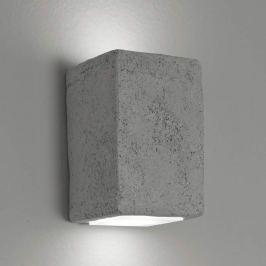 LED-Außenwandleuchte Smith, Quader grau, uw