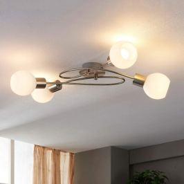 4-flammige LED-Deckenleuchte Hailey, nickel