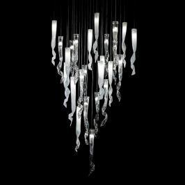 Beeindruckende Glas-Hängeleuchte Comete