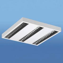 LED-Deckenleuchte Lak mit Darklight-Raster, 4.000K