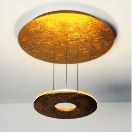 Bopp Saturn - goldene LED-Deckenleuchte