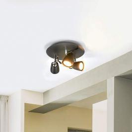 Schwarzes LED-Deckenrondell Marko, 3-flammig