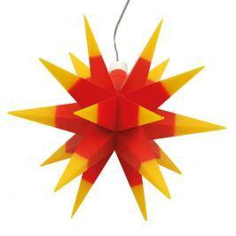 Innendeko - 18-zackiger Stern Ø 12 cm rot-gelb