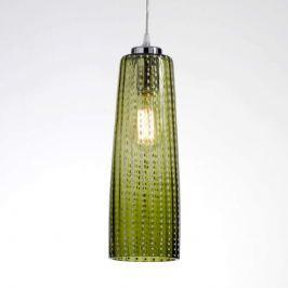 Moderne Hängelampe Perle m. apfelgrünem Glasschirm