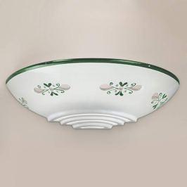 Bassano - hübsche Keramik-Wandleuchte, grün