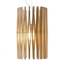 Fabbian Stick - Hängeleuchte aus Holz, 43 cm