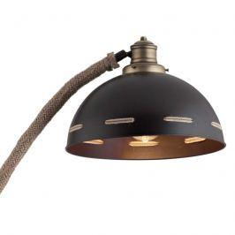 Stehlampe Bree mit Arm in Seiloptik