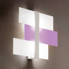 Abstrakte Deckenleuchte Triad 62 cm weiß/lila