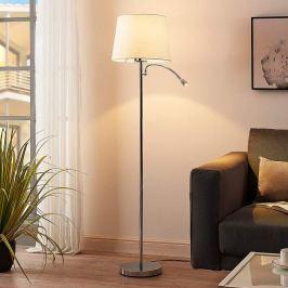 Benjiro - Stoff-Stehlampe mit LED-Leselicht