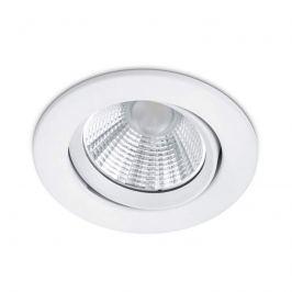 Runder LED-Einbaustrahler Pamir in mattem Weiß