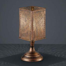 Antik-kupferne Tischlampe Jana aus Metall