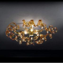 Bernsteinfarbene Deckenleuchte Amber 60 cm Ø