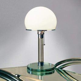 Glasgestaltete Wagenfeld-Tischlampe