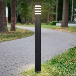 In Anthrazit - runde Wegelampe Lirah