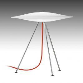 Piet Hein Sinus - Tischlampe mit rotem Kabel