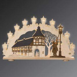 Schöner 3D-Lichterbogen Altstadtromantik