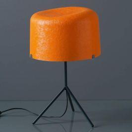 Glasfaserschirm in Orange - Tischleuchte Ola