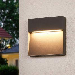 Karina - dunkelgraue LED-Außenwandlampe, eckig
