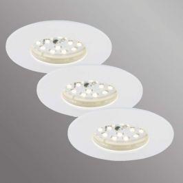 3er Set Felia LED-Einbauleuchte IP44, weiß