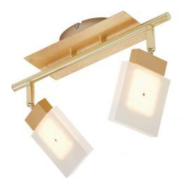 2-flammige LED-Deckenleuchte Glam in Gold