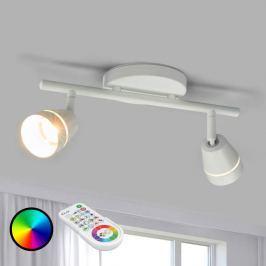 2-flammiger LED-Deckenspot Ivory, steuerbar mit FB
