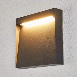 Flache LED-Außenwandleuchte Bene
