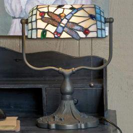 Bankierlampe Dragonfly im Tiffany-Stil