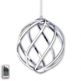 Elegante LED-Pendelleuchte Twist, chrom Ø 36cm