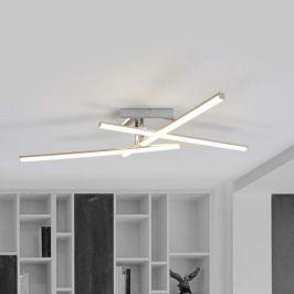 3-flammige LED-Deckenlampe Akasia - Edelstahl