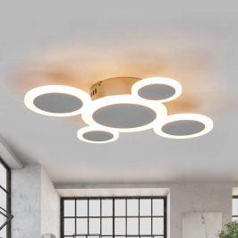 Trendige LED-Deckenlampe Ita mit Chromglanz