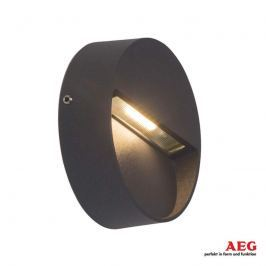 AEG Front - runde LED-Außenwandlampe in Anthrazit