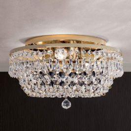 Kristalldeckenleuchte SHERATA rund, gold 35 cm