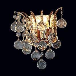 Goldene Kristallwandleuchte LENNARDA