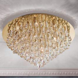 Kristall-Deckenleuchte Helene in Gold, 75 cm