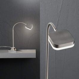 5-Watt-LED-Tischleuchte Tobias, nickel-matt