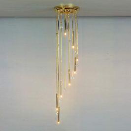 Deckenleuchte SPIRALE 8-flammig gold