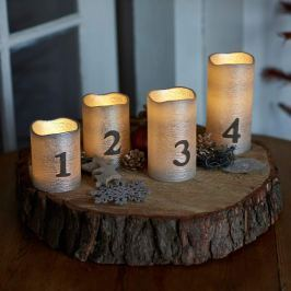Adventskerzen Tenna mit Zahlen LED 4er-Set