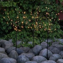3er-Set LED-Bäume Höhe 90 cm außen