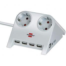 Desktop-Power Steckdosenleiste mit USB, weiß