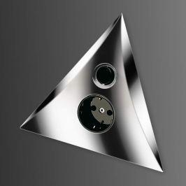 LUXOR Schalter-Steckdosen-Kombination, chrom matt