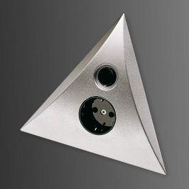 LUXOR Schalter-Steckdosen-Kombination, edelstahl