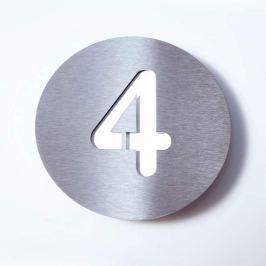 Hausnummer Round aus Edelstahl - 4