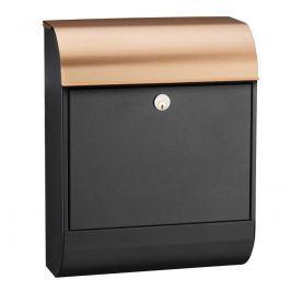 Schwarzer Briefkasten Pearl mit Kupferdach