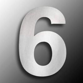 Edelstahl-Hausnummern  groß 6