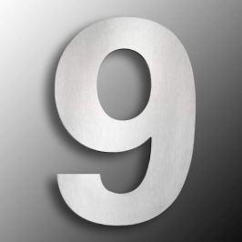 Edelstahl-Hausnummern  groß 9