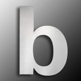 Edelstahl-Hausnummern  groß  - Buchstabe b