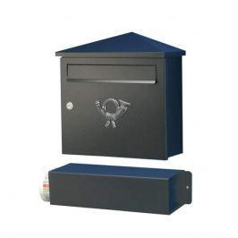 Eleganter Briefkasten LUCIO schwarz