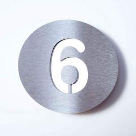 Hausnummer Round aus Edelstahl - 6