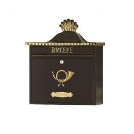 Schöner Briefkasten TRAKO schwarz-gold